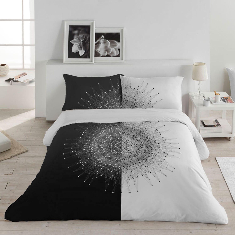 Σεντόνια (Σετ) Cosmos Black White Anna Riska Υπέρδιπλo 240x260cm