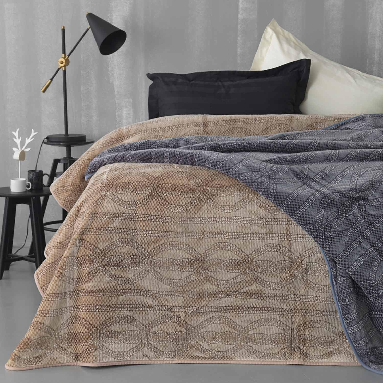 Κουβέρτα Smooth Beige Palamaiki Υπέρδιπλo 220x240cm