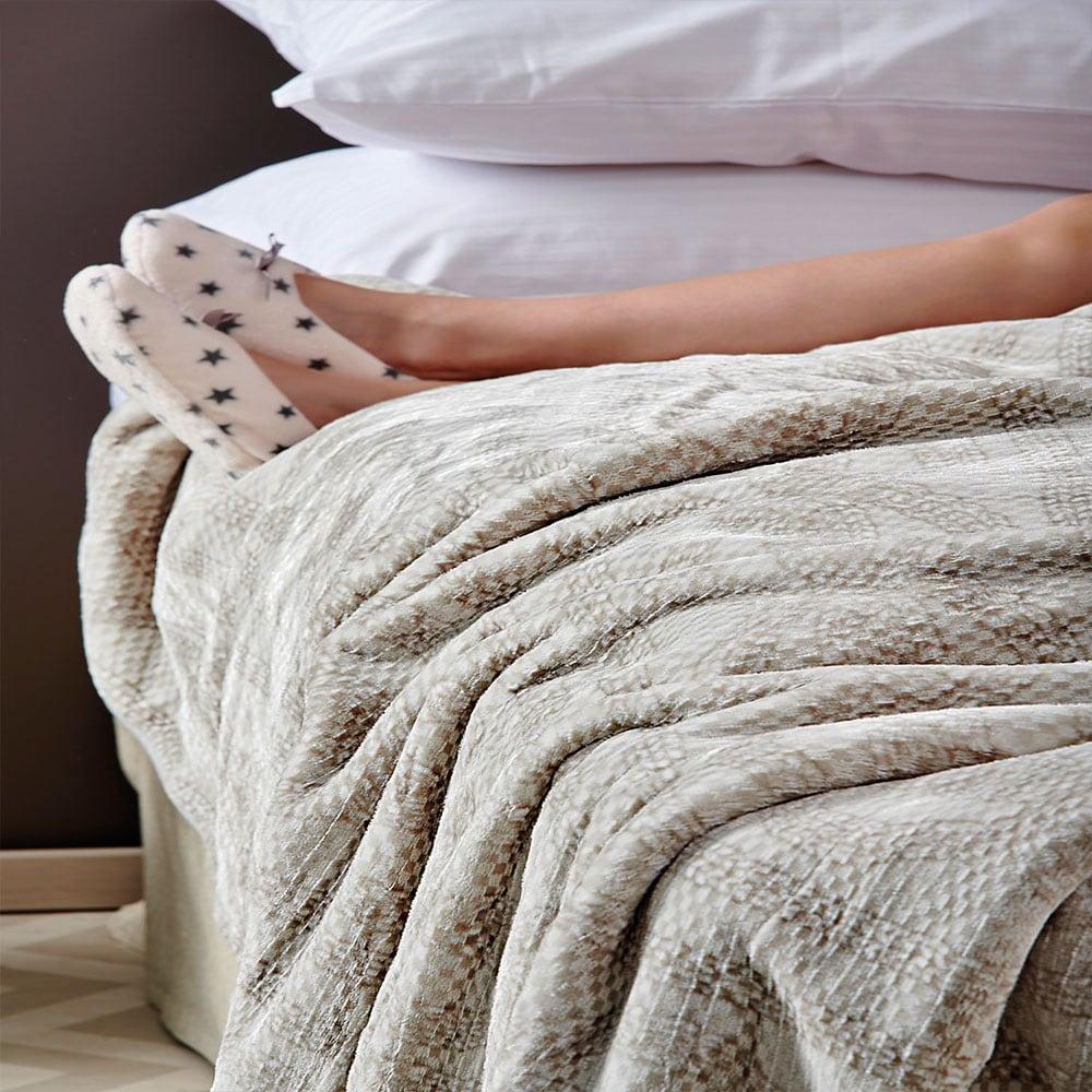 Κουβέρτα Smooth Light Grey Palamaiki Υπέρδιπλo 220x240cm