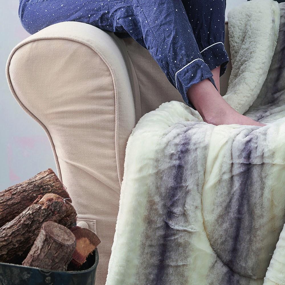 Κουβέρτα Καναπέ Rex Ivory-Lila Palamaiki 150X180 130x180cm