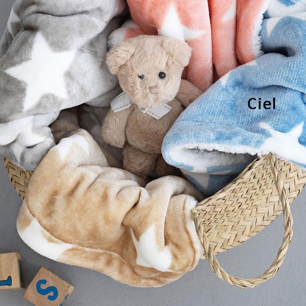 Κουβέρτα Παιδική Fleece Stars Ciel Palamaiki Μονό 160x240cm
