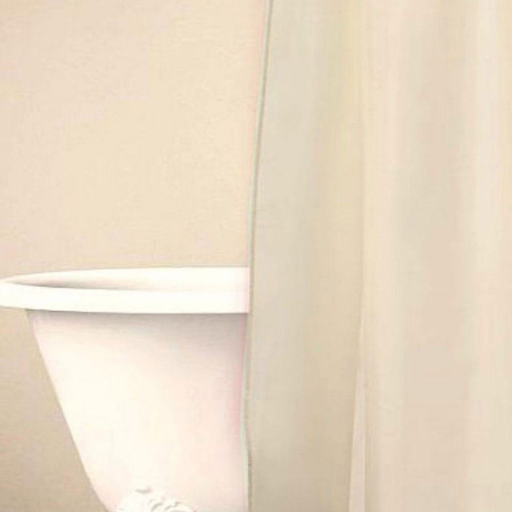 Κουρτίνα Μπάνιου Simple Cream Palamaiki Φάρδος 180cm 180x180cm