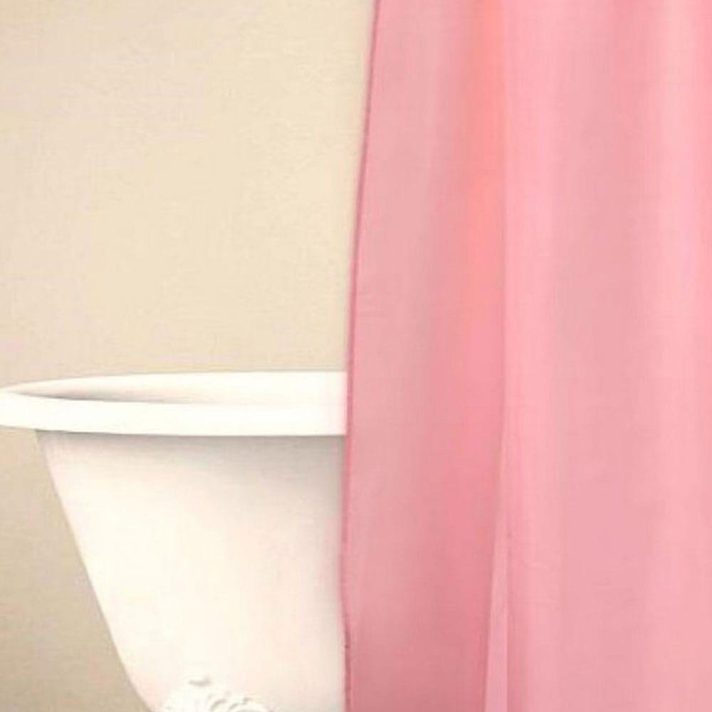 Κουρτίνα Μπάνιου Simple Pink Palamaiki Φάρδος 180cm 180x180cm