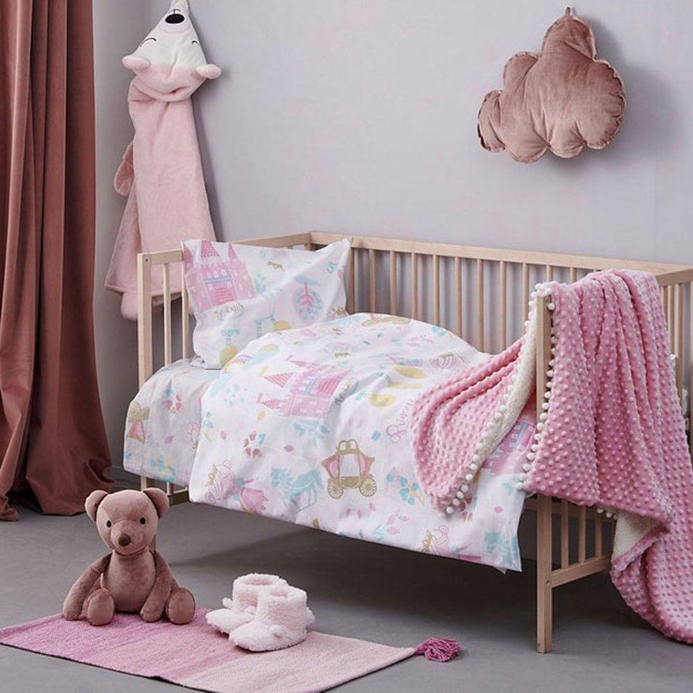 Πάντα Κούνιας MK719 Pink Palamaiki 40x210cm
