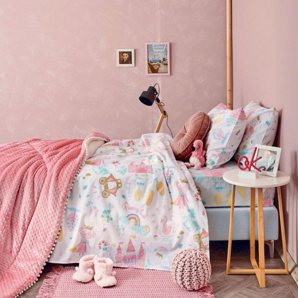 Πάπλωμα Παιδικό MK717 Pink Palamaiki Ημίδιπλο 160x240cm