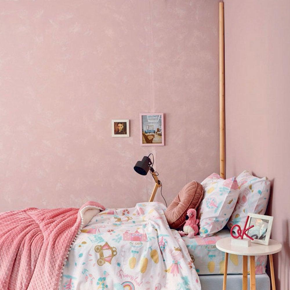 Πάπλωματοθήκη Παιδική Σετ 2τμχ MK717 Pink Palamaiki Ημίδιπλο 160x240cm