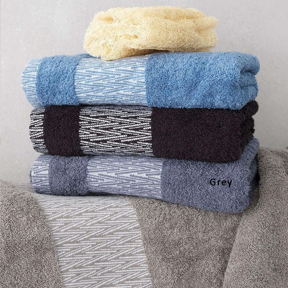 Πετσέτα Cruz Grey Palamaiki Σώματος 70x140cm