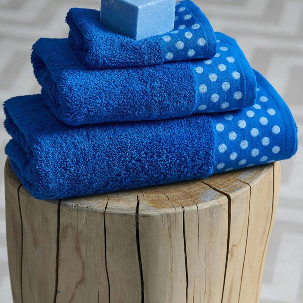 Πετσέτα Dots Blue Palamaiki Σώματος 70x140cm
