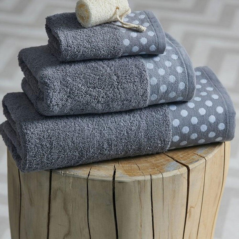 Πετσέτα Dots Grey Palamaiki Σώματος 70x140cm