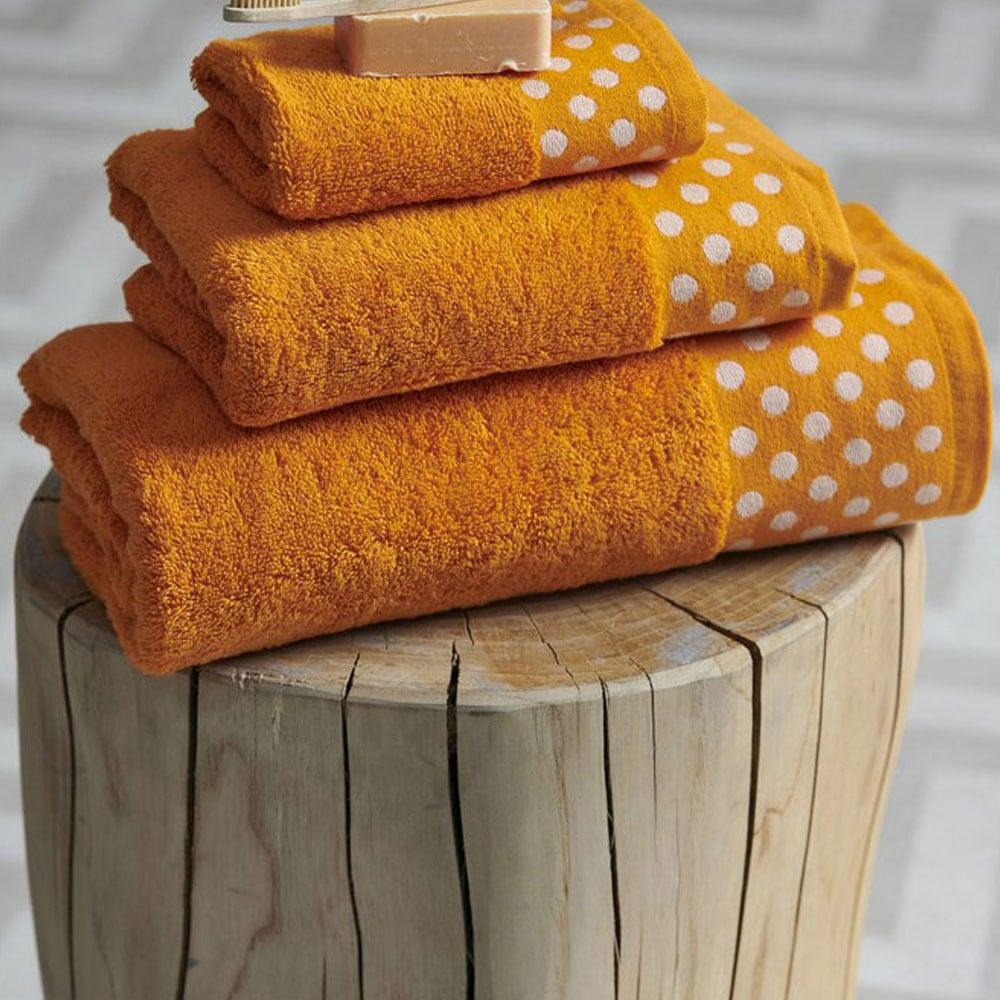 Πετσέτα Dots Orange Palamaiki Χεριών 30x50cm