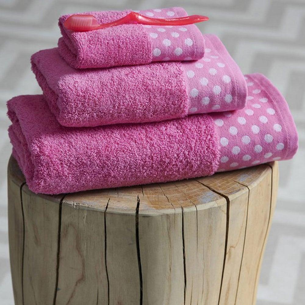 Πετσέτα Dots Pink Palamaiki Σώματος 70x140cm