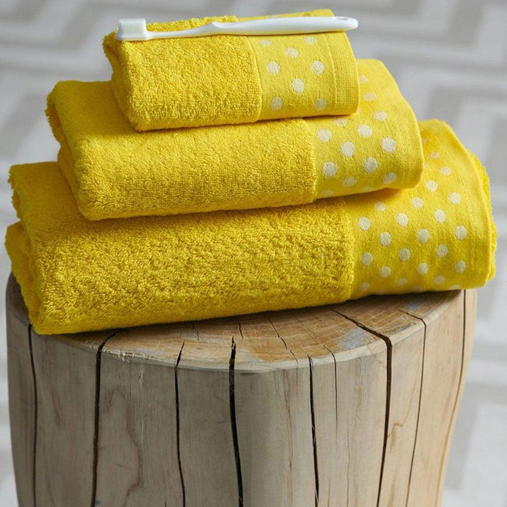 Πετσέτα Dots Yellow Palamaiki Προσώπου 50x100cm