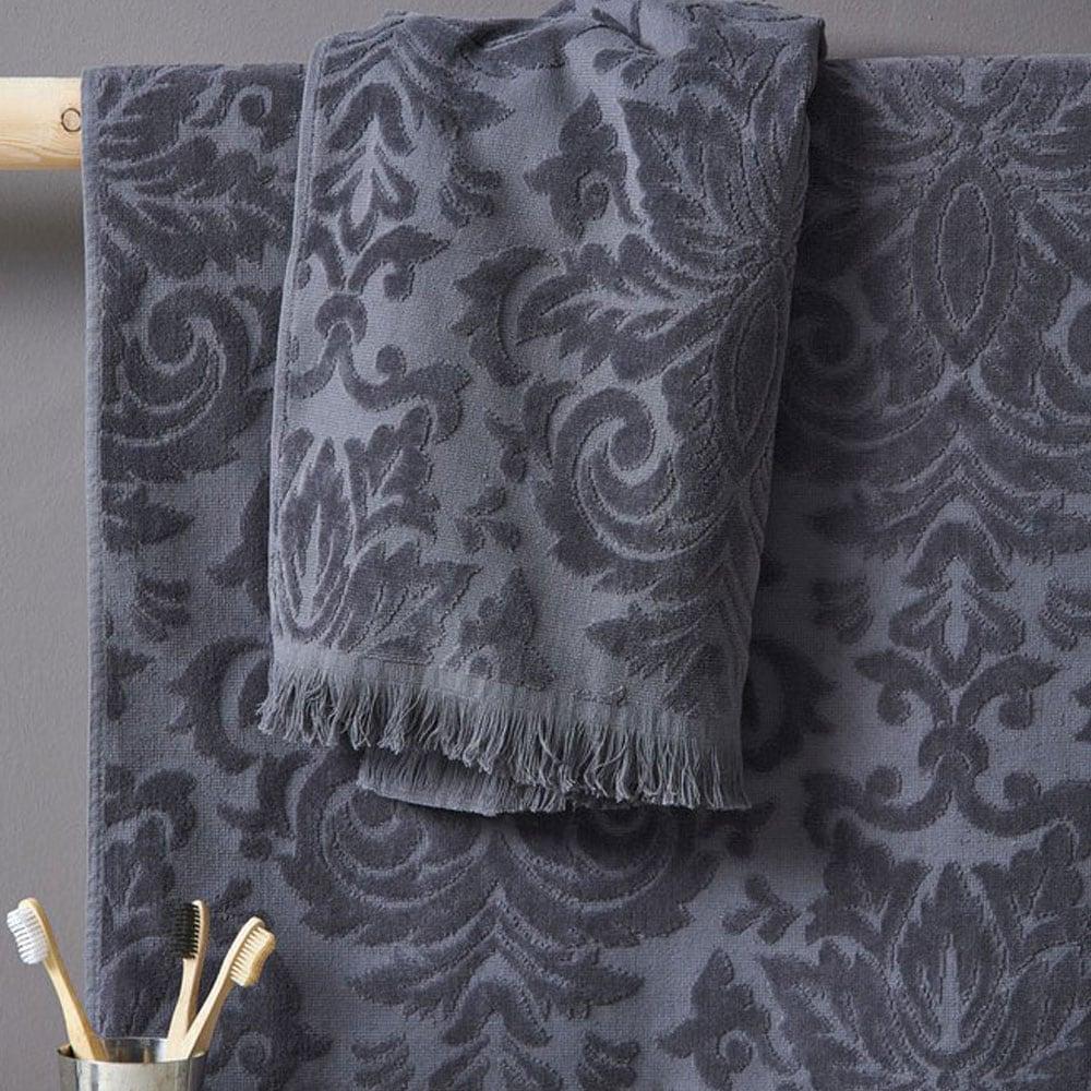 Πετσέτα Lilly Grey Palamaiki Προσώπου 50x90cm