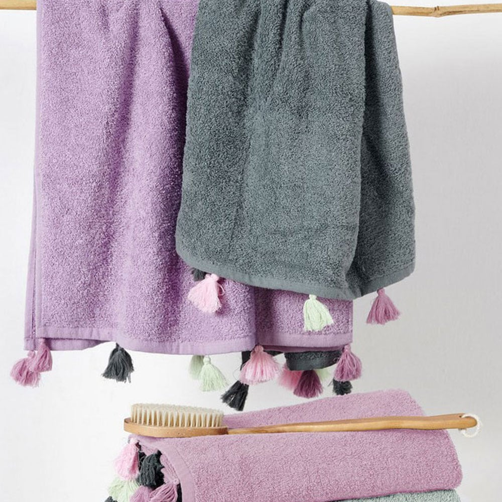 Πετσέτα Margot Grey Palamaiki Προσώπου 50x90cm