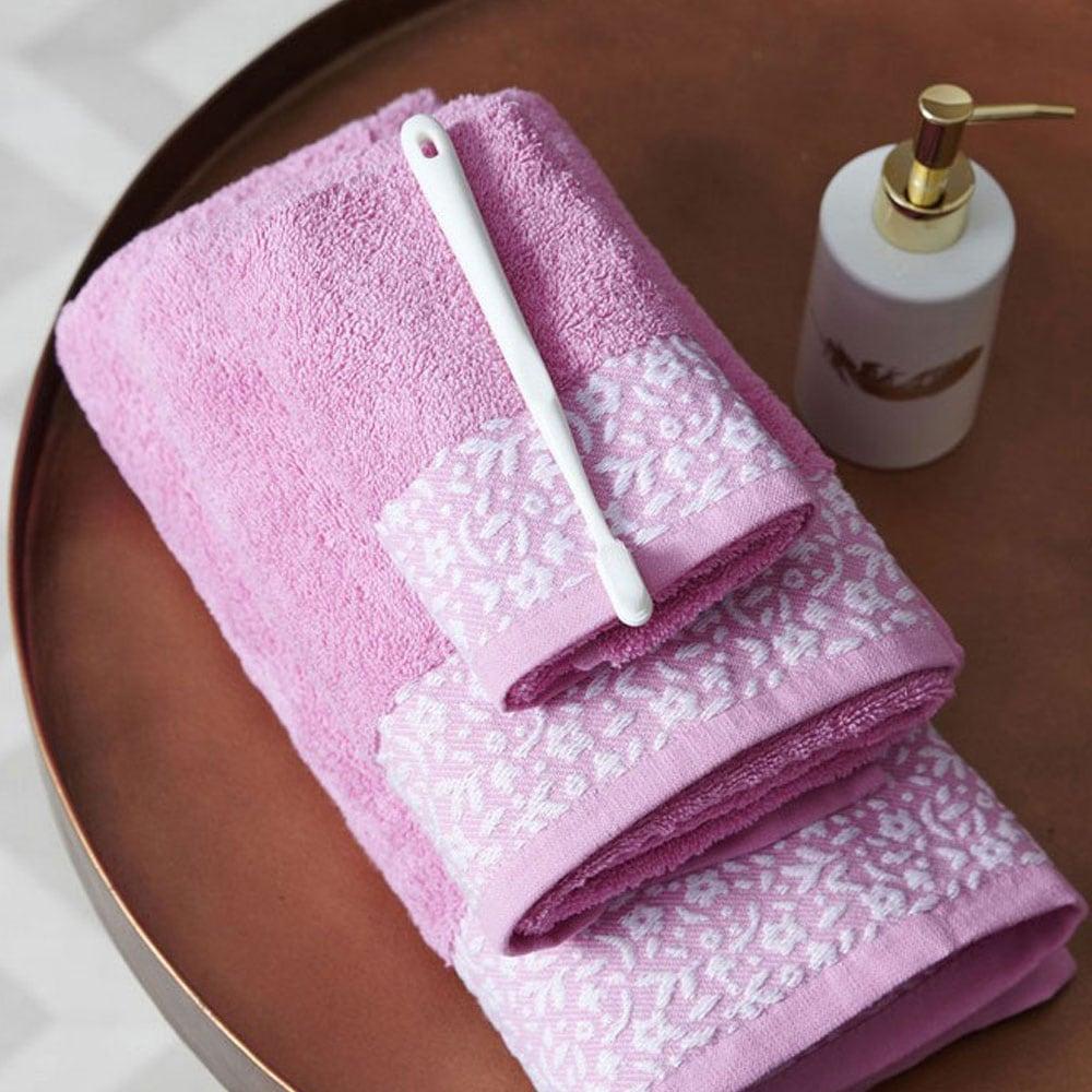 Πετσέτα Primavera Pink Palamaiki Σώματος 70x140cm