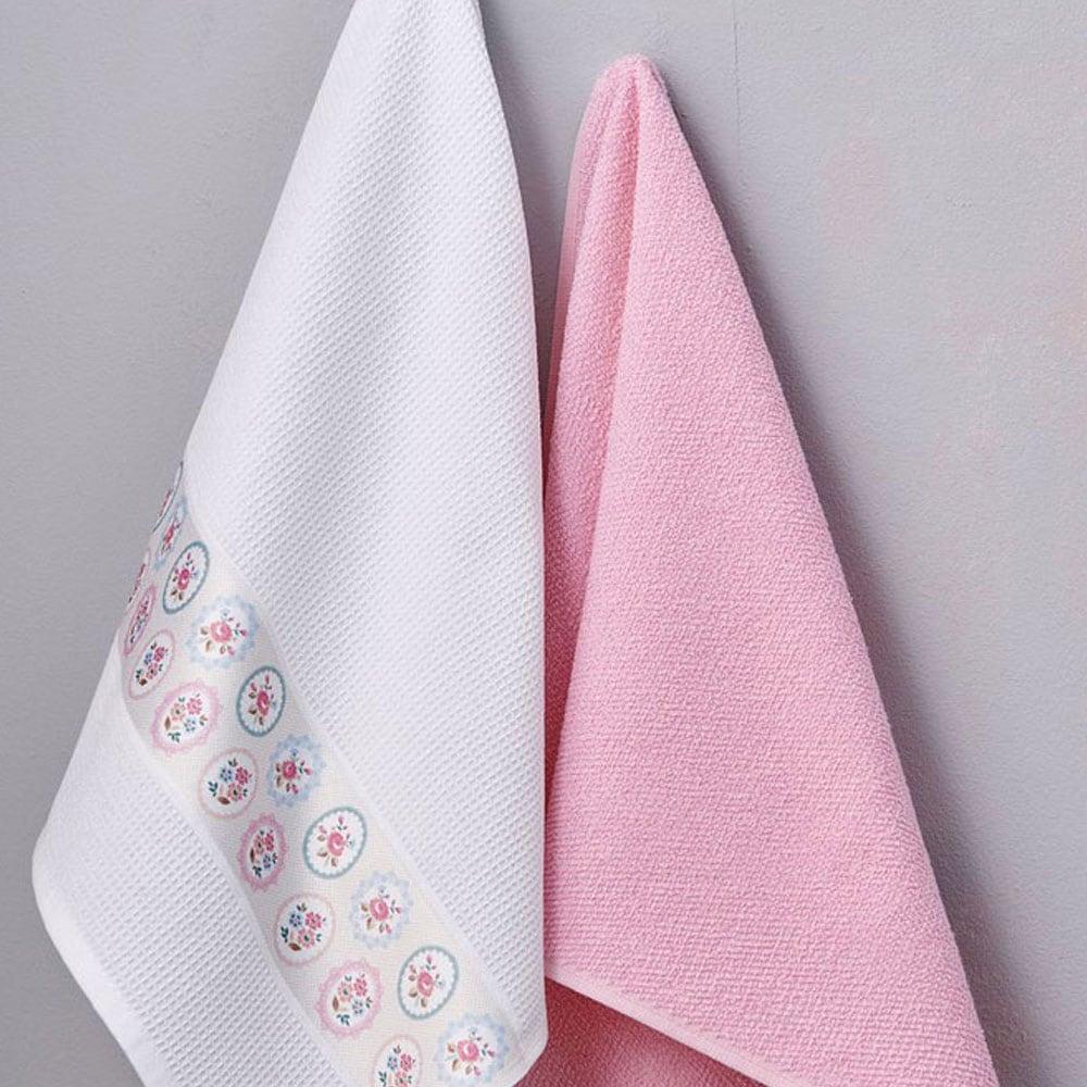 Πετσέτες Κουζίνας Σετ 2τμχ Fiori Palamaiki 50x70cm