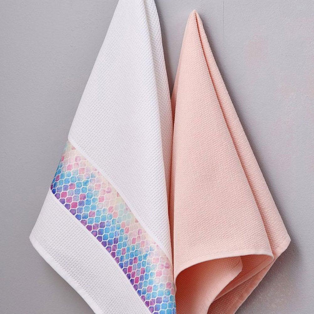 Πετσέτες Κουζίνας Σετ 2τμχ Salmone Palamaiki 50x70cm