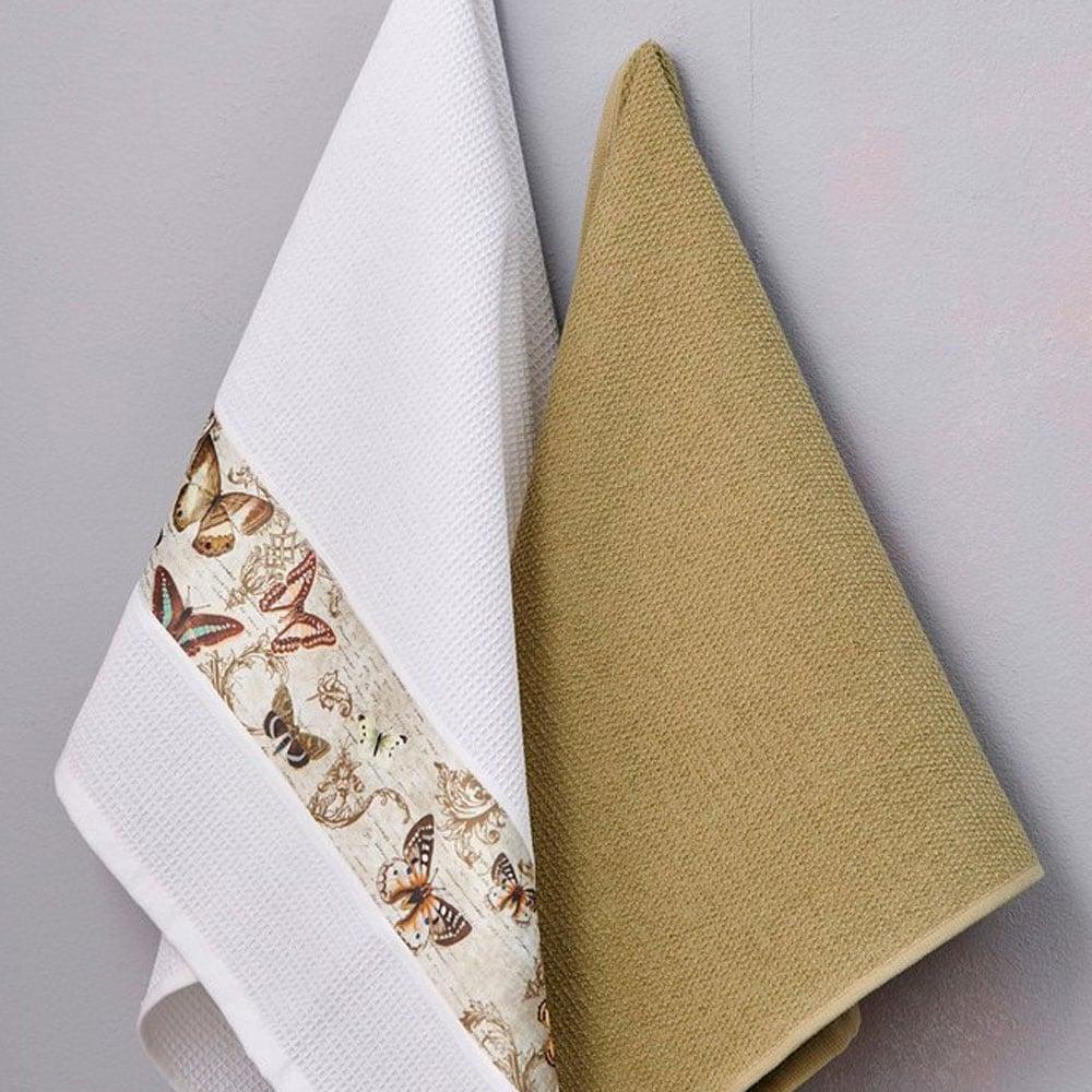 Πετσέτες Κουζίνας Σετ 2τμχ Verde Palamaiki 50x70cm