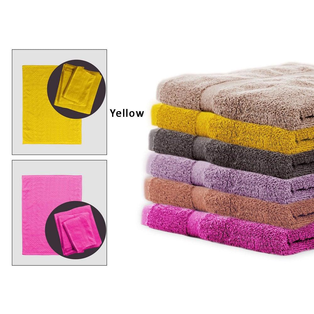 Πετσέτες Σετ Με Πατάκι Μπάνιου Rod Yellow Palamaiki Σετ Πετσέτες