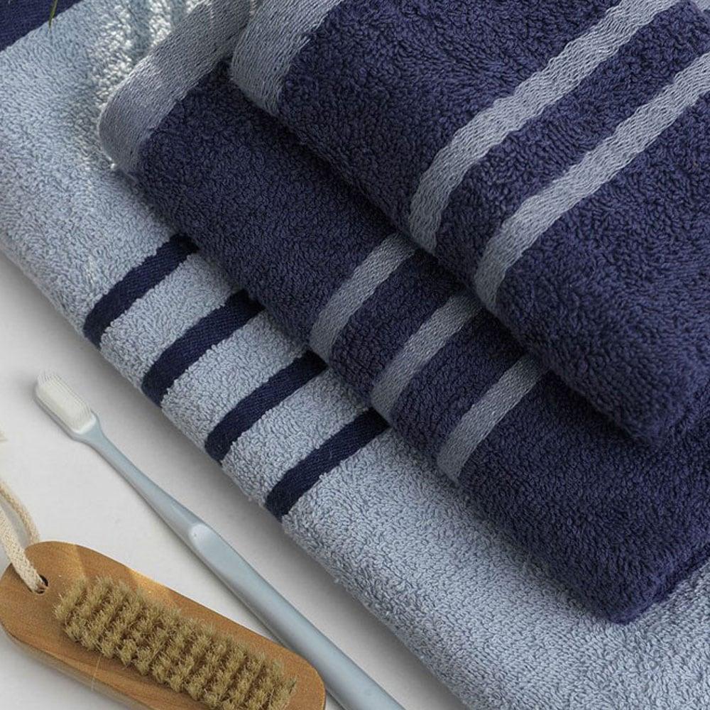 Πετσέτες Σετ Contrast 3τμχ Blue Palamaiki Σετ Πετσέτες