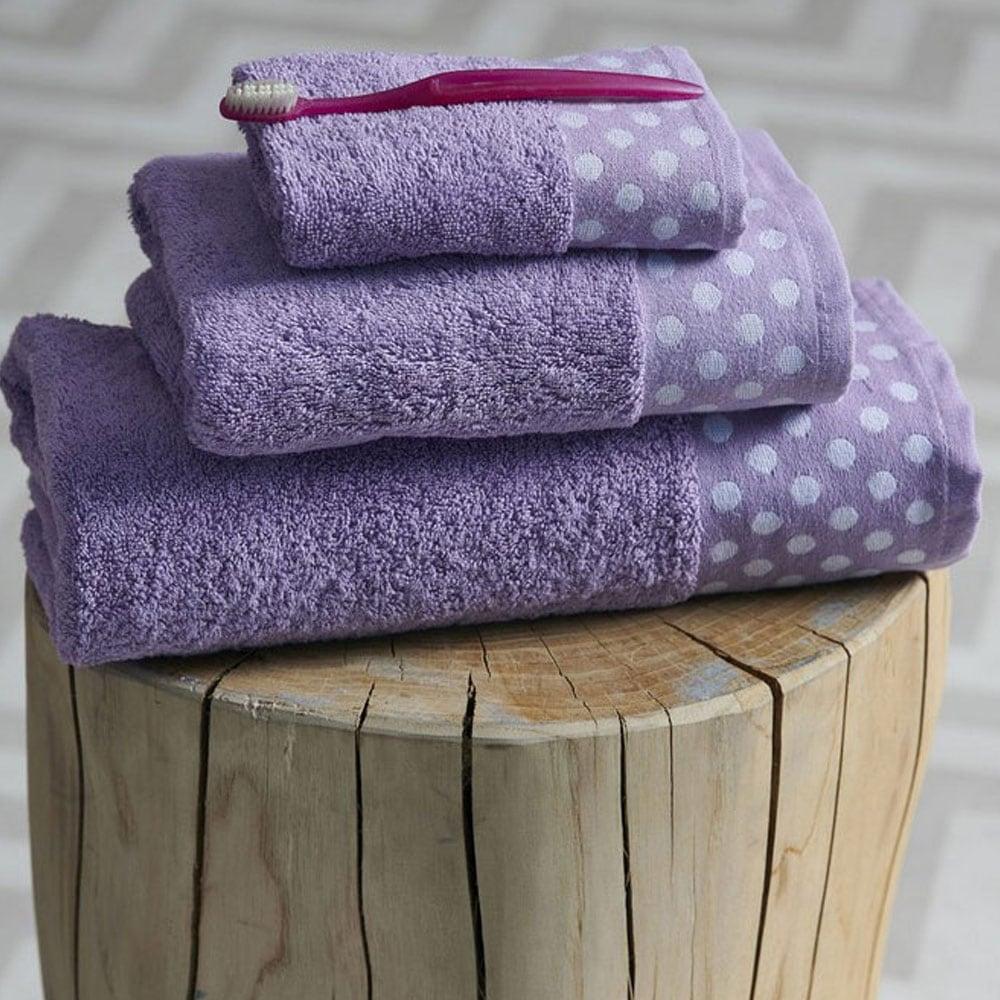 Πετσέτες Σετ Dots 3τμχ Lilac Palamaiki Σετ Πετσέτες