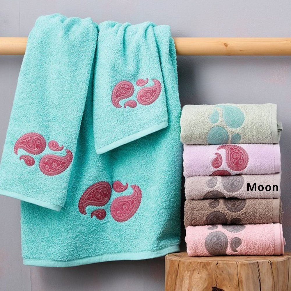 Πετσέτες Σετ Mala 3τμχ Moon Palamaiki Σετ Πετσέτες