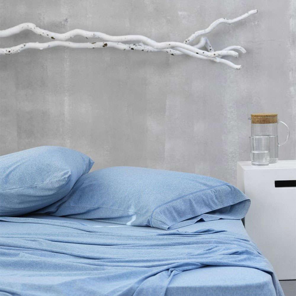 Σεντόνι Με Λάστιχο Cocoon Blue Palamaiki Υπέρδιπλo 160x225cm