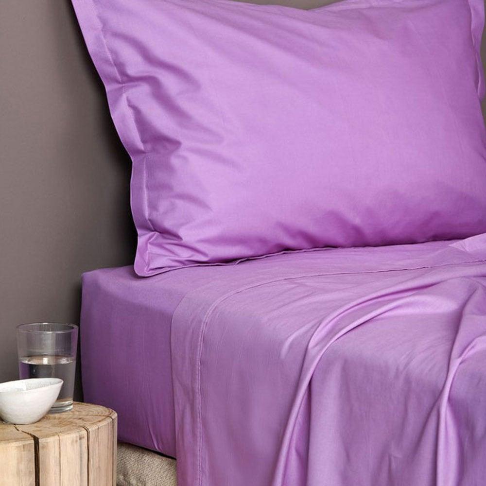 Σεντόνια Με Λάστιχο Color Rainbow Violet Palamaiki Ημίδιπλο 110x200cm