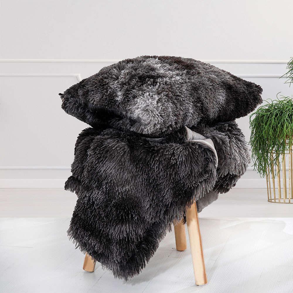 Διακοσμητική Μαξιλαροθήκη Siren Dark Grey Palamaiki 50X50 100% Polyester