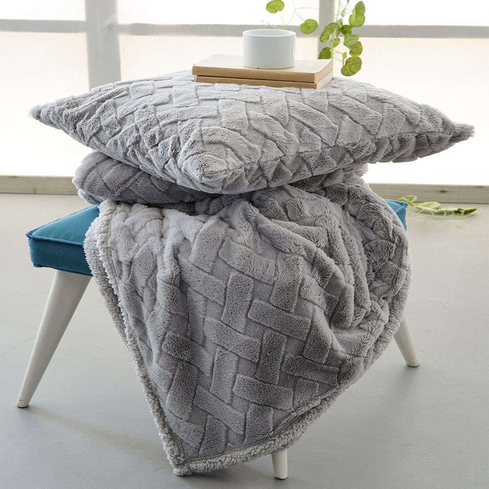 Κουβέρτα Καναπέ Moby Grey Palamaiki 150X180