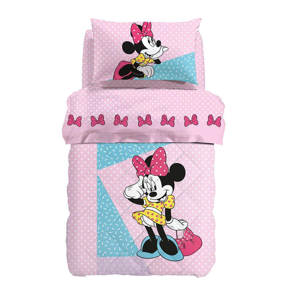 Πάπλωμα Παιδικό Minnie Pink Palamaiki Ημίδιπλο
