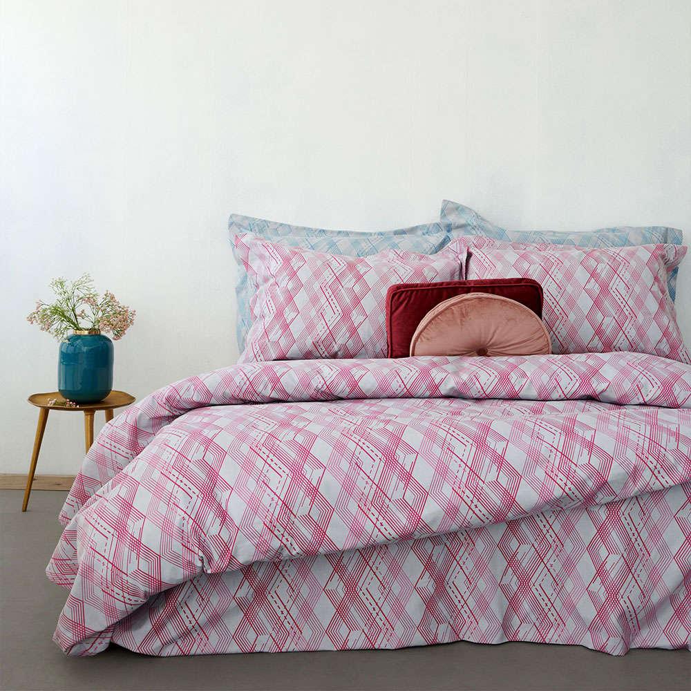 Σεντόνια Φανελένια Με Λάστιχο Σετ CW267 Cosy Winter Pink Palamaiki Ημίδιπλο