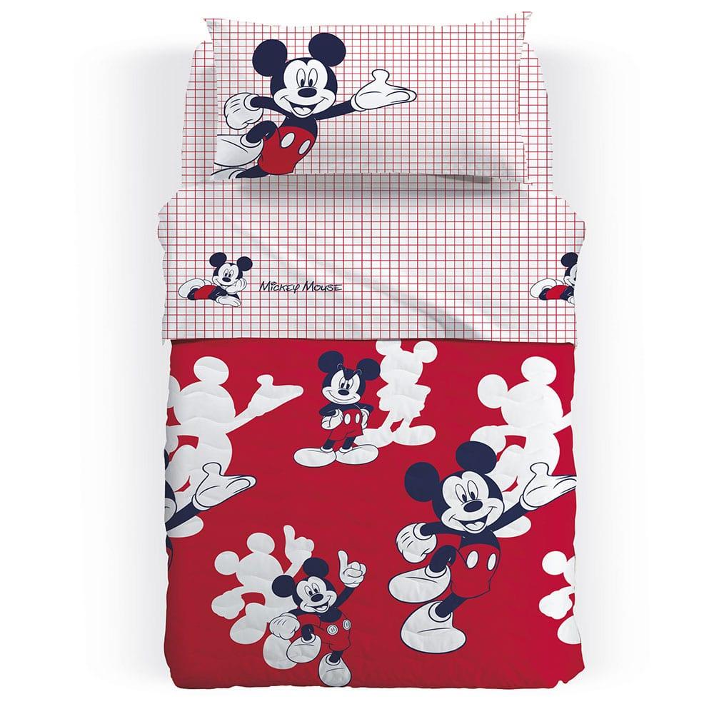 Κουβερλί Παιδικό Mickey Mouse Red Palamaiki Ημίδιπλο 160x250cm