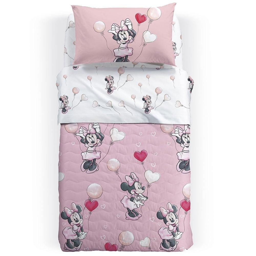 Κουβερλί Παιδικό Minnie Love Pink Palamaiki Ημίδιπλο 160x250cm