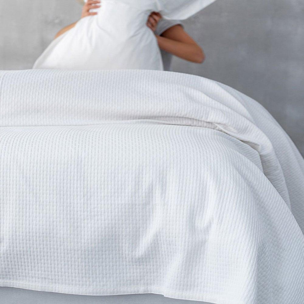Κουβέρτα Abbey White Palamaiki Ημίδιπλο 170x250cm