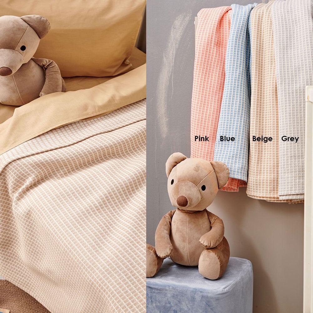 Κουβέρτα Βρεφική Deem Grey Palamaiki Κούνιας 110x150cm