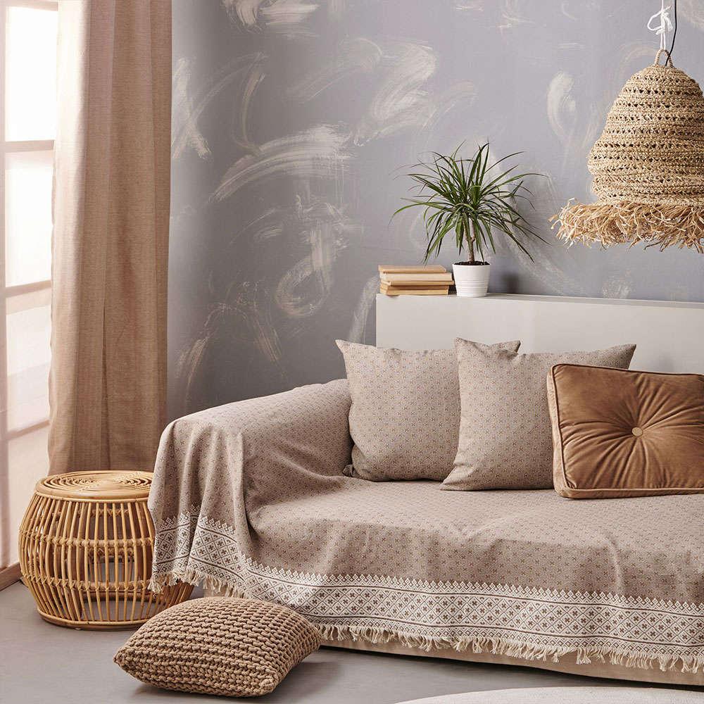 Μαξιλαροθήκη Διακοσμητική Delicate Beige Palamaiki 50X50 Βαμβάκι-Polyester