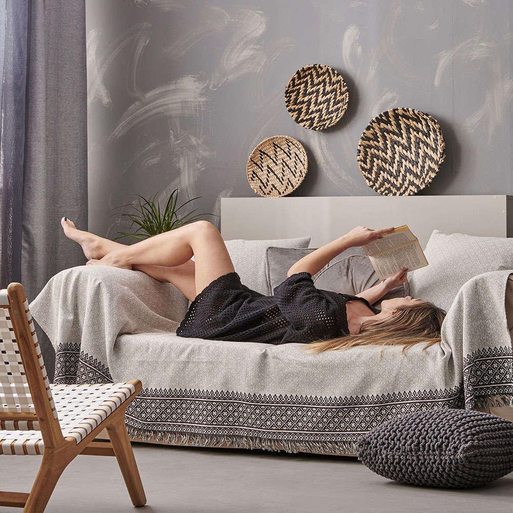 Μαξιλαροθήκη Διακοσμητική Delicate Black Palamaiki 50X50 Βαμβάκι-Polyester
