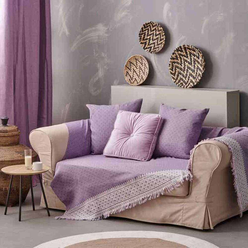 Μαξιλαροθήκη Διακοσμητική Delicate Lilac Palamaiki 50X50 Βαμβάκι-Polyester