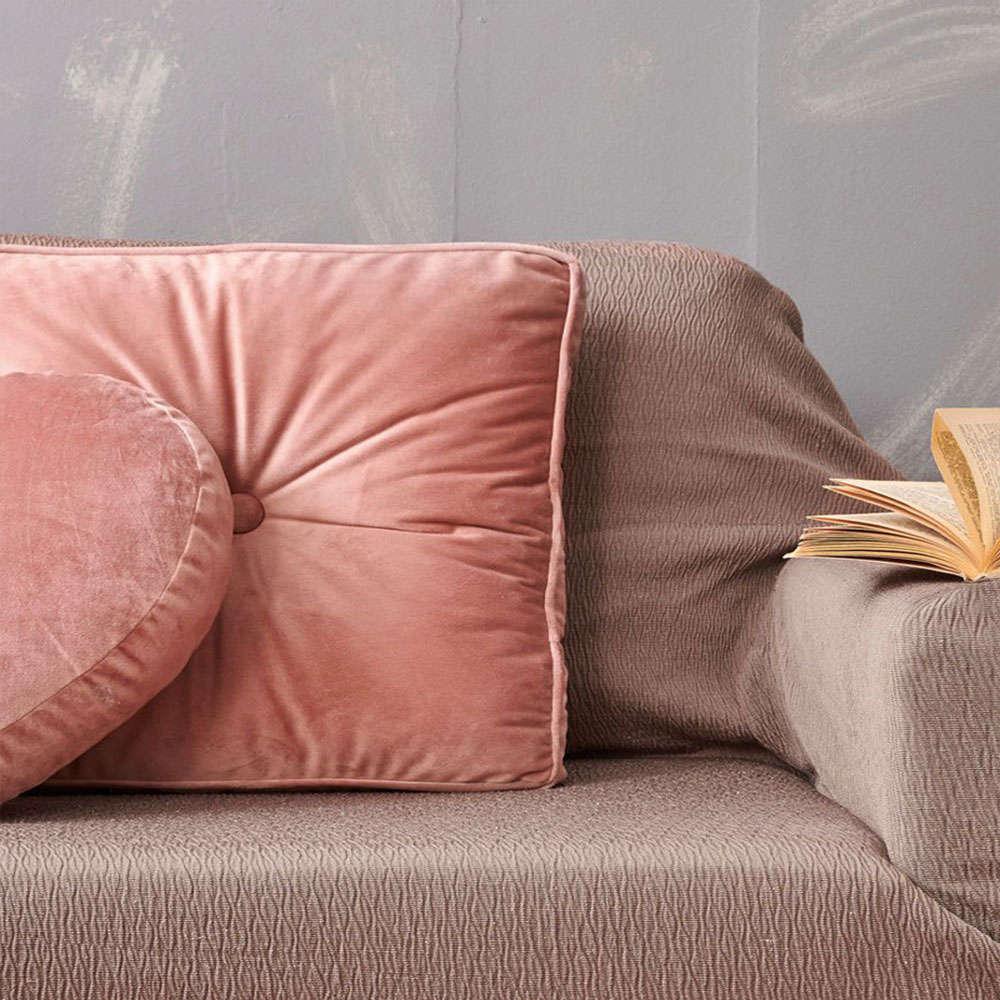 Μαξιλάρι Διακοσμητικό (Με Γέμιση) VF807 Dusty Pink Palamaiki 45X45 Βαμβάκι-Polyester