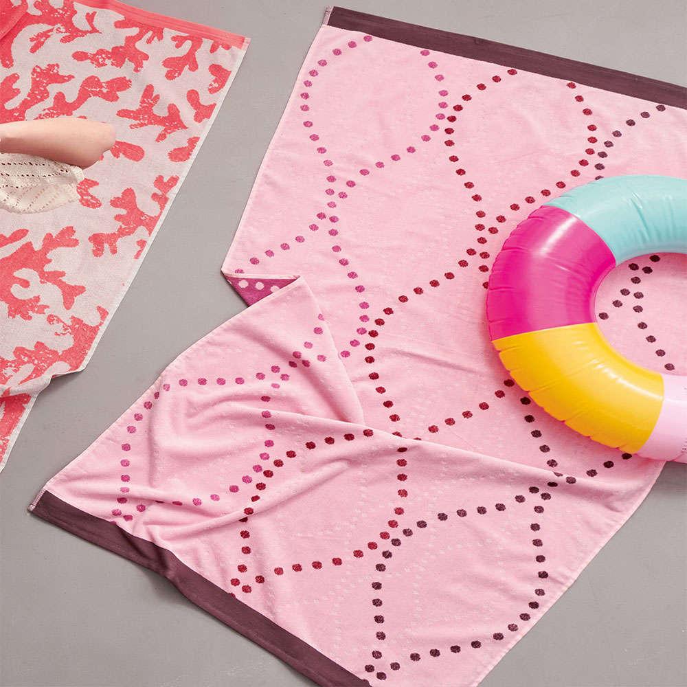 Πετσέτα Θαλάσσης – Παρεό ES700 Pink Palamaiki Θαλάσσης 85x160cm