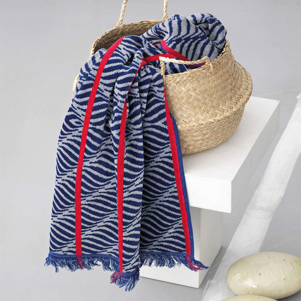 Πετσέτα Θαλάσσης – Παρεό Seas Blue-Red Palamaiki Θαλάσσης 95x185cm