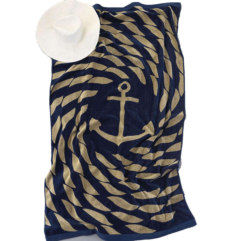 Πετσέτα Θαλάσσης Robe Blue-Gold Palamaiki Θαλάσσης 95x160cm