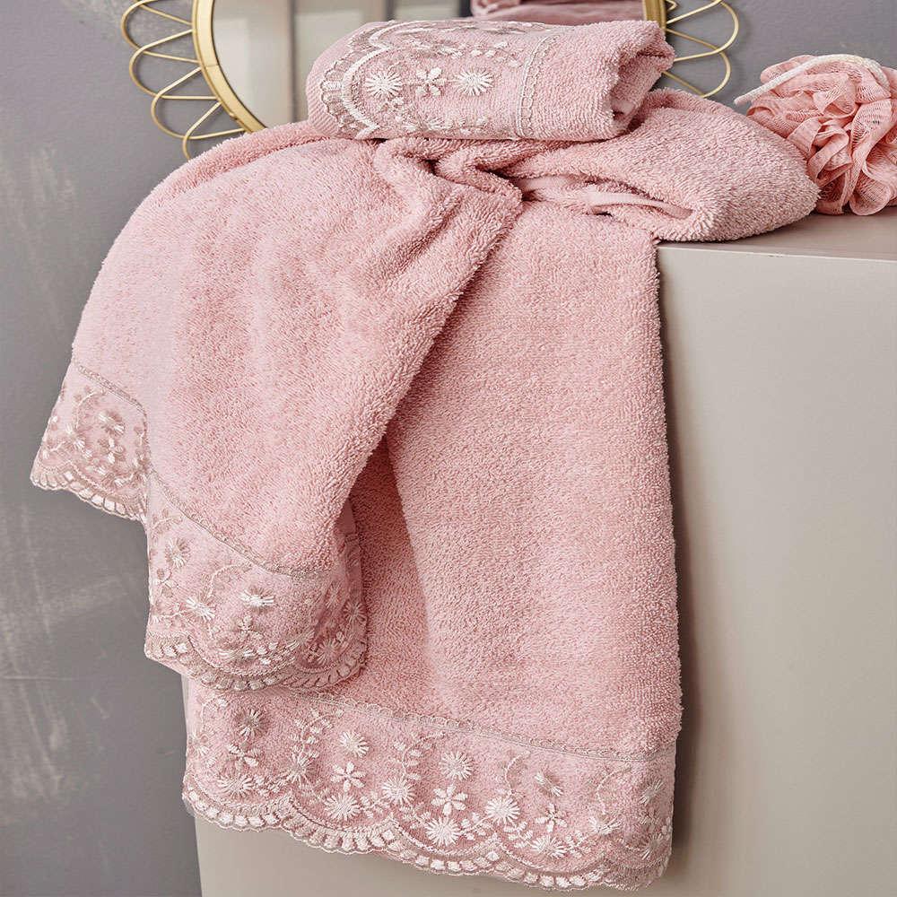 Πετσέτες Dida Σετ 3τμχ Pink Palamaiki Σετ Πετσέτες 70x140cm