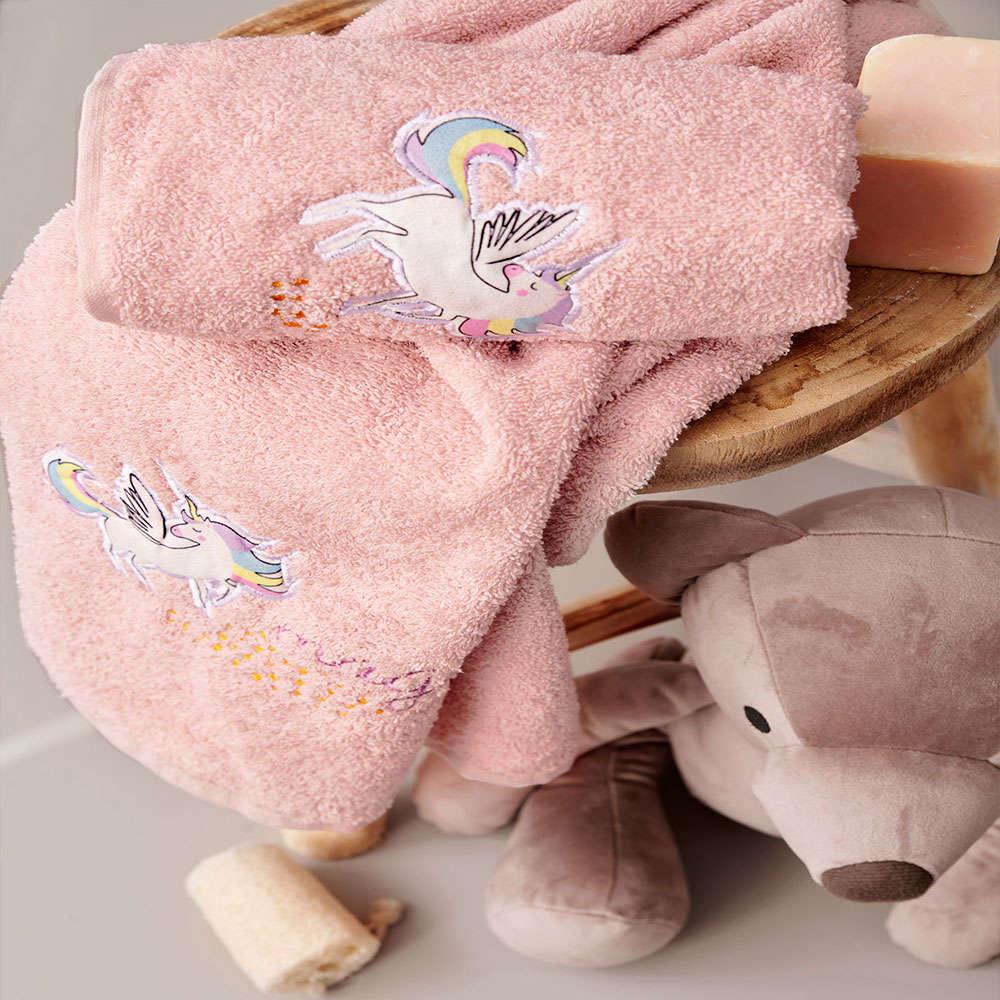 Πετσέτες Παιδικές Pegasus Σετ 2τμχ Salmon Palamaiki Σετ Πετσέτες 70x140cm