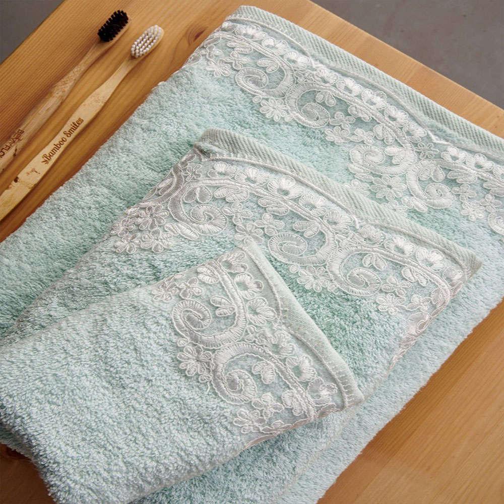 Πετσέτες Sandy Σετ 3τμχ Mint Palamaiki Σετ Πετσέτες 70x140cm