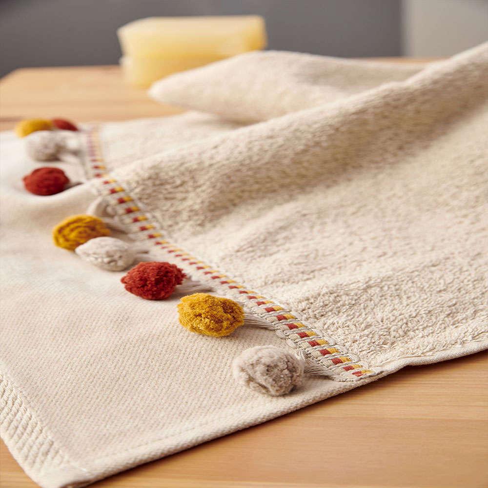 Πετσέτες Sarte Σετ 3τμχ Beige Palamaiki Σετ Πετσέτες 70x140cm