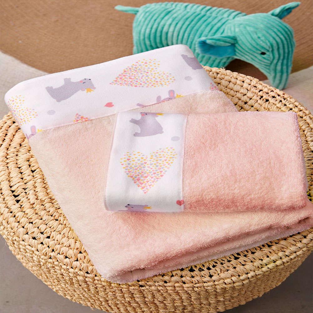 Πετσέτες Παιδικές Infinite Σετ 2τμχ Salmon Palamaiki Σετ Πετσέτες