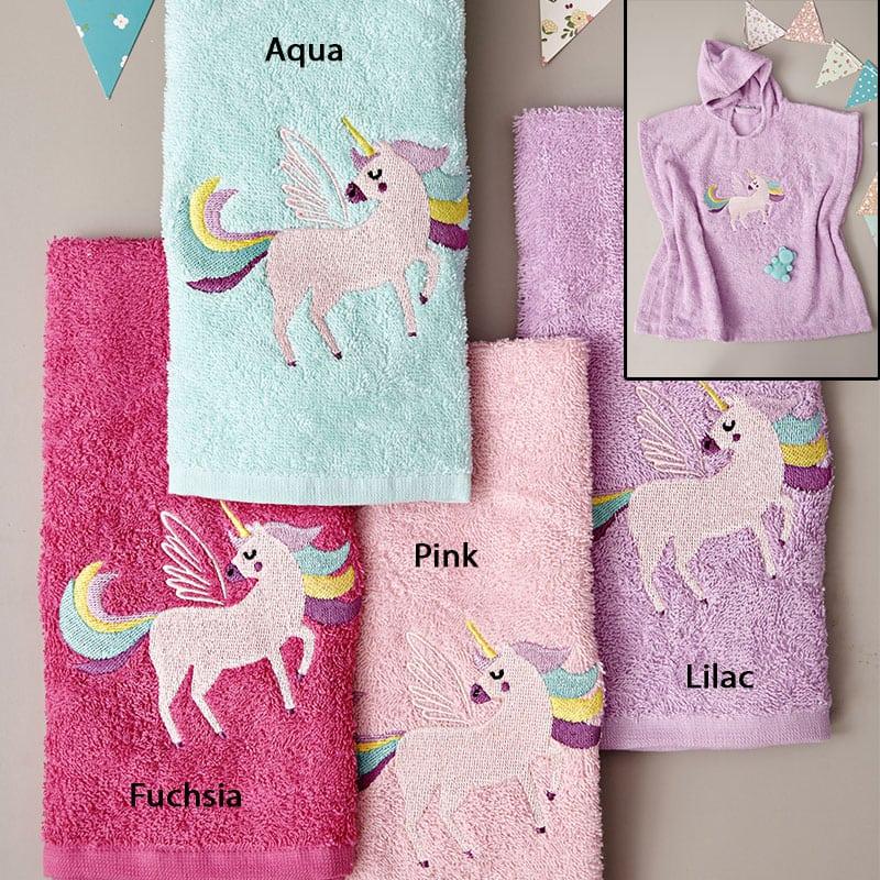 Πόντσο Βρεφικό Με Κουκούλα Unicorn Magic Pink Palamaiki 0-2 ετών