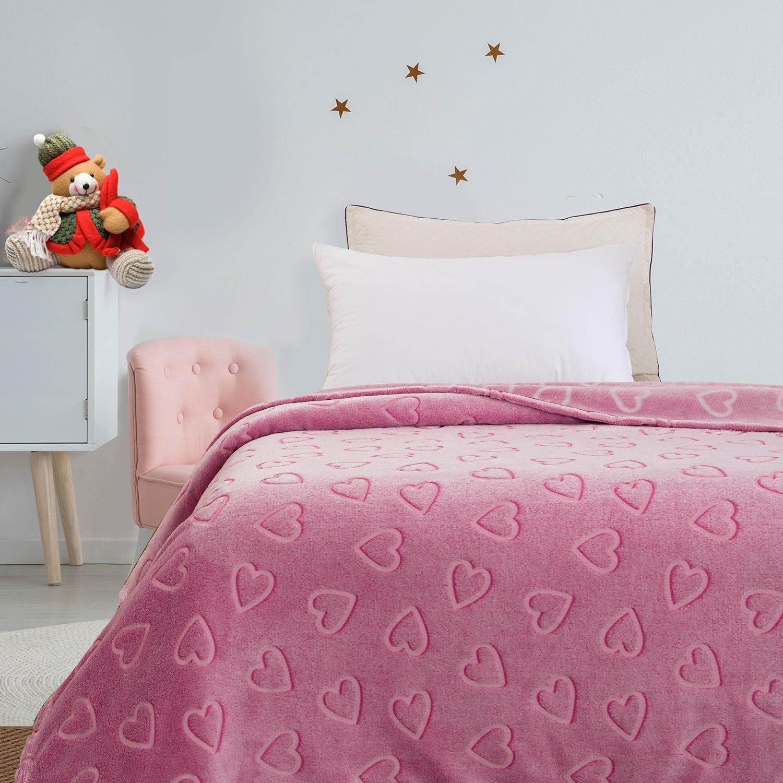 Κουβέρτα Παιδική Φωσφοριζέ Sweetheart Pink Palamaiki Μονό